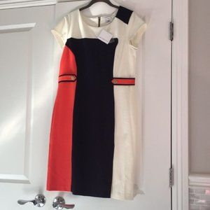 ❤️Liz Claiborne sheath color block dress